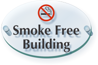 Smoke Free Building ClearBoss Sign