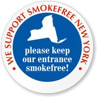 SmokeFree New York Window Decal