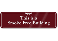 Smoke Free Building Sign