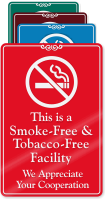 Smoke & Tobacco Free Facility ShowCase Wall Sign