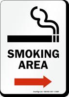 Smoking Area (arrow right) - vertical