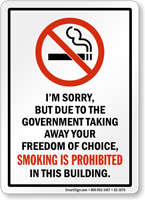 Smoking Is Prohibited In Building Sign