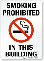 Smoking Prohibited In This Building (symbol) Sign