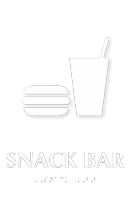Snack Bar TactileTouch Braille Sign