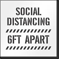 Social Distancing 6 Feet Apart Floor Stencil