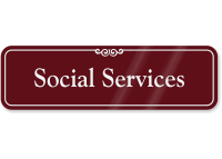 Social Services ShowCase Wall Sign