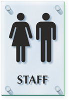 Staff Unisex Restroom ClearBoss Sign