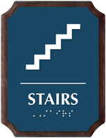 Stairs Braille TactileTouch Wood Plaque