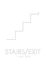 Stairs Exit Deco Regulatory Sign
