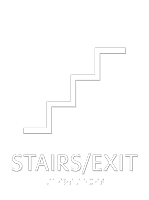 Stairs Exit Esquire Regulatory Sign
