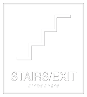 Stairs Exit LeatherTex Sign