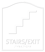 Stairs Exit Santera Regulatory Sign