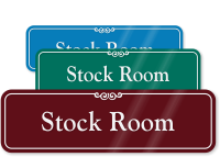 Stock Room Sign