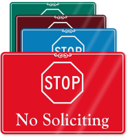 STOP No Soliciting ShowCase Wall Sign
