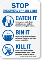 Prevent Swine Flu Sign