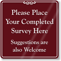 Suggestions Are Welcome ShowCase Sign