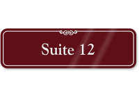 Suite Number 12 ShowCase Wall Sign