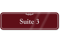 Suite Number 3 ShowCase Wall Sign