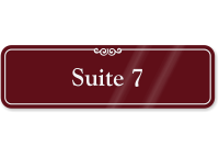 Suite Number 7 ShowCase Wall Sign