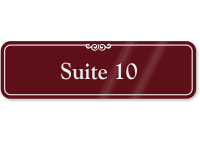 Suite Number 10 ShowCase Wall Sign