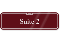 Suite Number 2 ShowCase Wall Sign