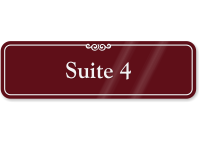 Suite Number 4 ShowCase Wall Sign