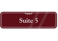 Suite Number 5 ShowCase Wall Sign