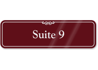 Suite Number 9 ShowCase Wall Sign