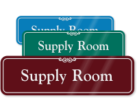 Supply Room Sign
