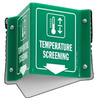 Temperature Screening Projecting Sign