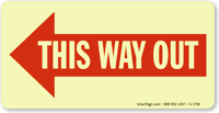 This Way Out (Arrow Left)