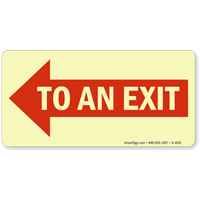 To An Exit Sign