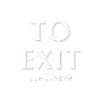 To Exit Sign