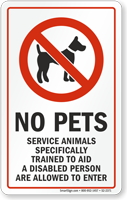 Trained Service Animals Are Allowed Window Decal