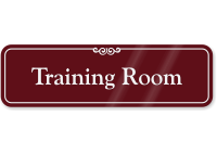 Training Room ShowCase Wall Sign