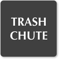 Trash Chute Select-A-Color Engraved Sign