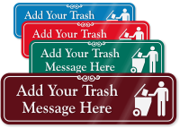 Trash Here Symbol Sign