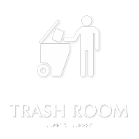 TactileTouch™ Trash Room Symbol Sign with Braille