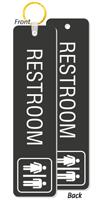 Unisex Jumbo Bathroom Keychain 2 Sided