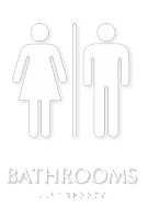 Unisex Bathrooms TactileTouch Braille Sign
