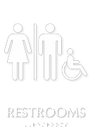Unisex Handicap Restrooms TactileTouch Braille Sign