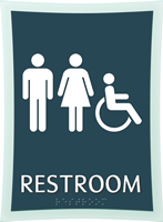 Restroom, Unisex/Handicapped, 11.375 in. x 8.375 in. Sign
