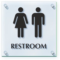 Unisex Restroom ClearBoss Sign