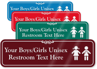 Boys / Girls Unisex Restroom Symbol Sign