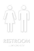 Unisex Restroom TactileTouch Braille Sign
