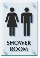 Unisex Shower Room ClearBoss Sign