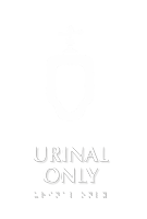 Urinal Only TactileTouch Braille Sign