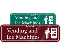 Vending & Ice Machines with Graphic ShowCase™ Sign