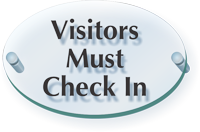 Visitors Must Check In ClearBoss Sign