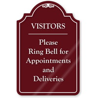Visitors Please Ring Bell ShowCase Sign